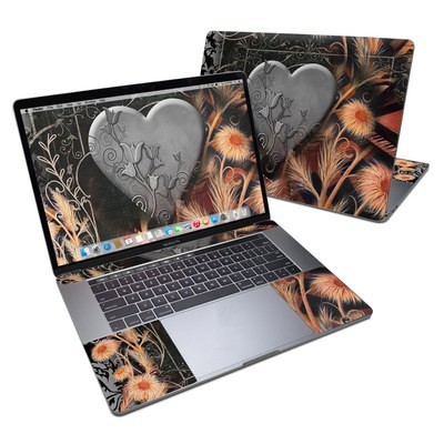 MacBook Pro 15in (2016) Skin - Black Lace Flower