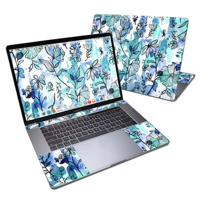 MacBook Pro 15in (2016) Skin - Blue Ink Floral