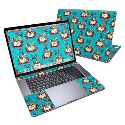 MacBook Pro 15in (2016) Skin - Bulldogs and Roses