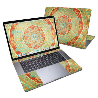 MacBook Pro 15in (2016) Skin - Mandala Citrus