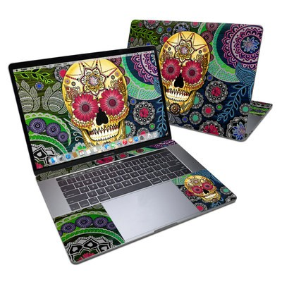 MacBook Pro 15in (2016) Skin - Sugar Skull Paisley