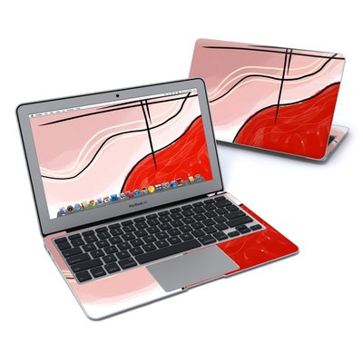 MacBook Air 11in Skin - Abstract Red