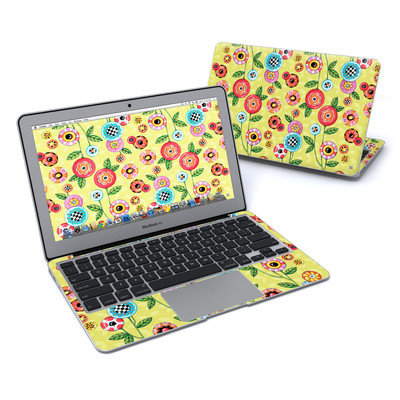 MacBook Air 11in Skin - Button Flowers