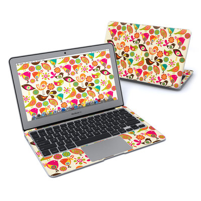 MacBook Air 11in Skin - Bird Flowers