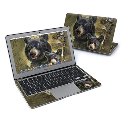 MacBook Air 11in Skin - Black Bears