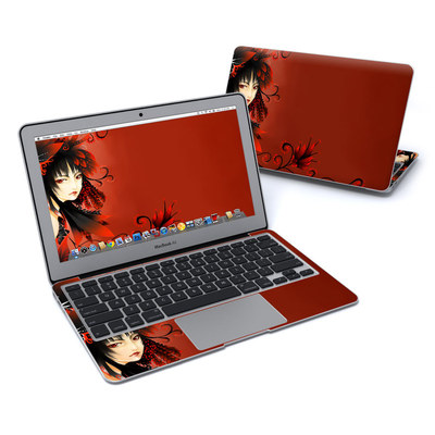 MacBook Air 11in Skin - Black Flower