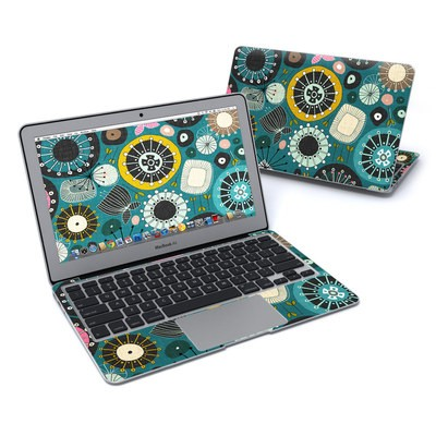 MacBook Air 11in Skin - Blooms Teal