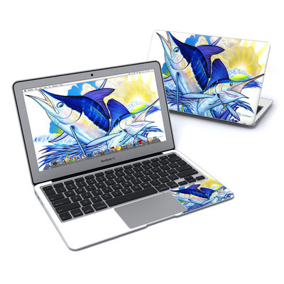 MacBook Air 11in Skin - Blue White and Yellow