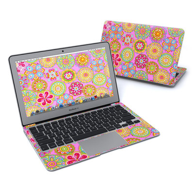 MacBook Air 11in Skin - Bright Flowers