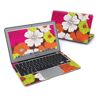 MacBook Air 11in Skin - Brown Flowers