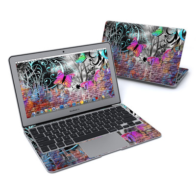MacBook Air 11in Skin - Butterfly Wall