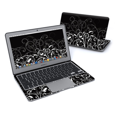 MacBook Air 11in Skin - B&W Fleur