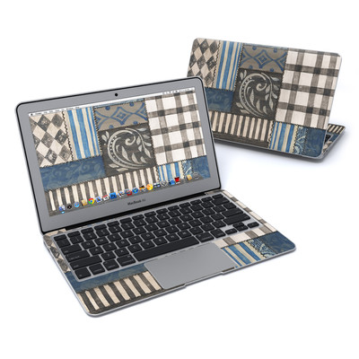 MacBook Air 11in Skin - Country Chic Blue