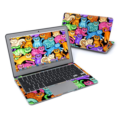 MacBook Air 11in Skin - Colorful Kittens