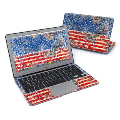 MacBook Air 11in Skin - Cobweb Flag