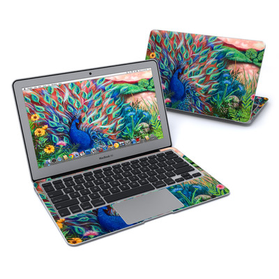 MacBook Air 11in Skin - Coral Peacock
