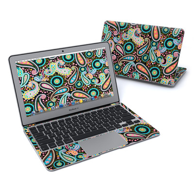 MacBook Air 11in Skin - Crazy Daisy Paisley