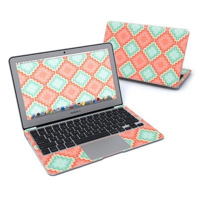 MacBook Air 11in Skin - Coral Diamond