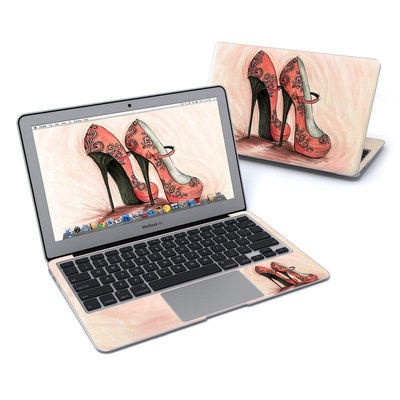 MacBook Air 11in Skin - Coral Shoes