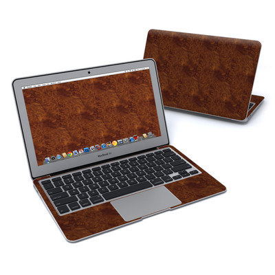 MacBook Air 11in Skin - Dark Burlwood