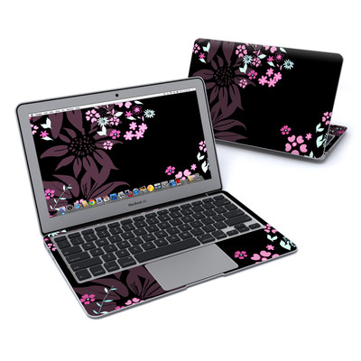 MacBook Air 11in Skin - Dark Flowers