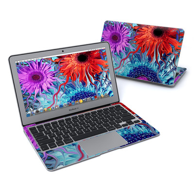 MacBook Air 11in Skin - Deep Water Daisy Dance