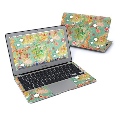MacBook Air 11in Skin - Feathers Flowers Showers
