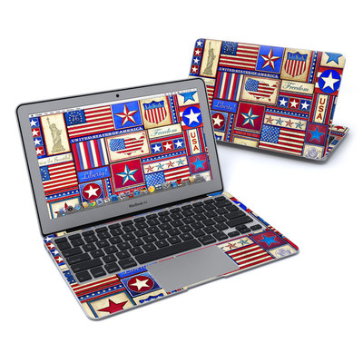 MacBook Air 11in Skin - Flag Patchwork