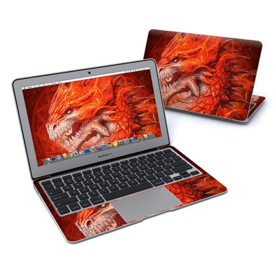 MacBook Air 11in Skin - Flame Dragon