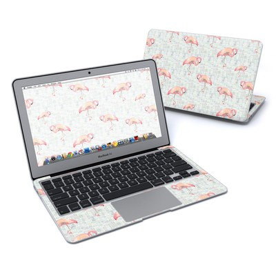 MacBook Air 11in Skin - Flamingo Mosaic