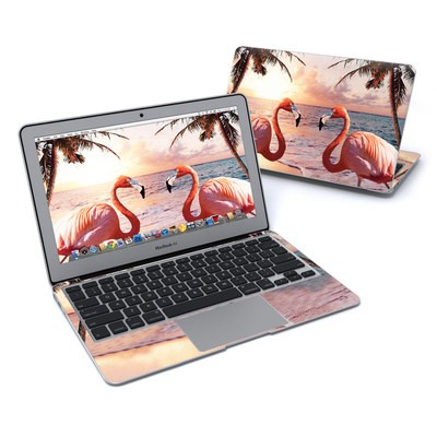 MacBook Air 11in Skin - Flamingo Palm
