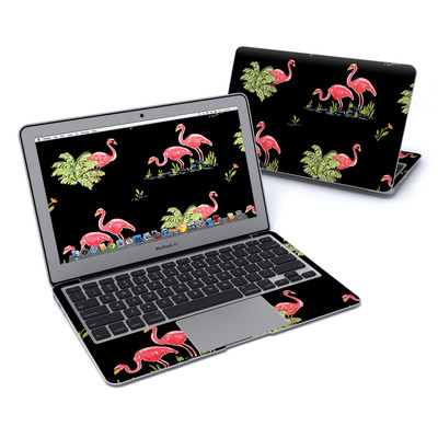 MacBook Air 11in Skin - Flamingos