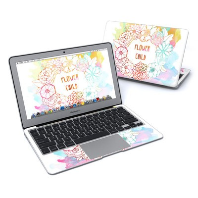 MacBook Air 11in Skin - Flower Child