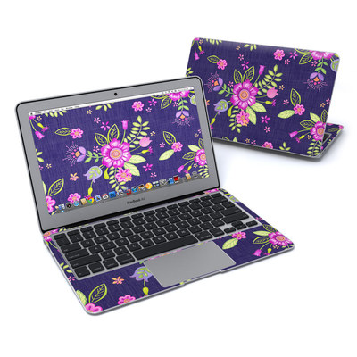 MacBook Air 11in Skin - Folk Floral