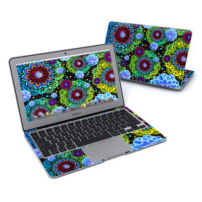 MacBook Air 11in Skin - Funky Floratopia