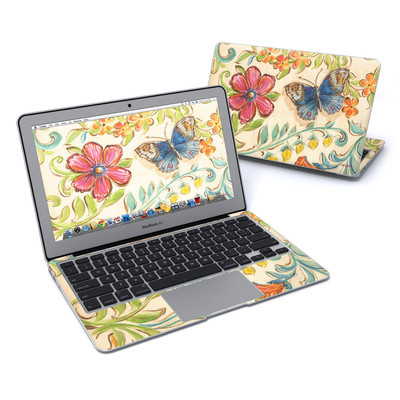 MacBook Air 11in Skin - Garden Scroll