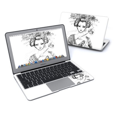 MacBook Air 11in Skin - Geisha Sketch