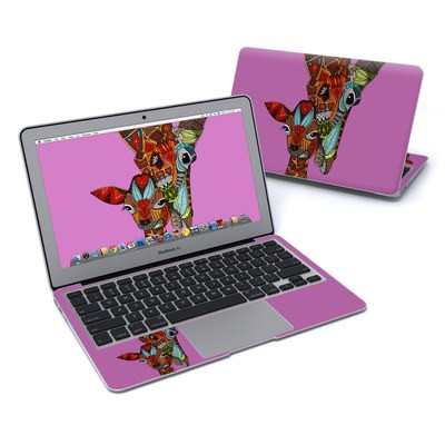 MacBook Air 11in Skin - Giraffe Love