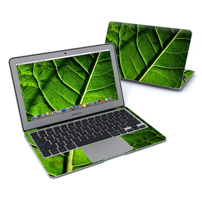 MacBook Air 11in Skin - Green Leaf