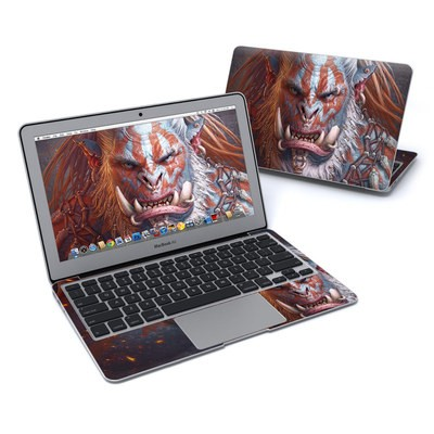 MacBook Air 11in Skin - Gruddur Orangefist