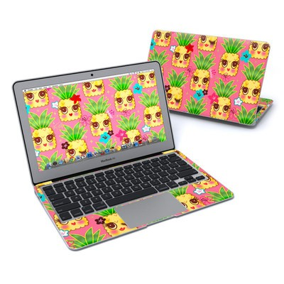 MacBook Air 11in Skin - Happy Kawaii Pineapples