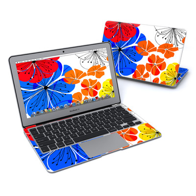 MacBook Air 11in Skin - Hibiscus Dance
