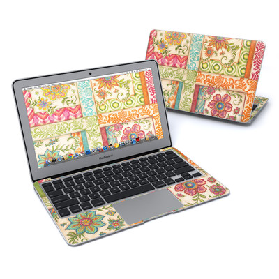 MacBook Air 11in Skin - Ikat Floral