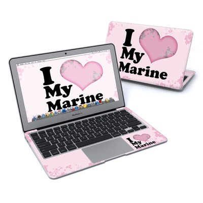 MacBook Air 11in Skin - I Love My Marine