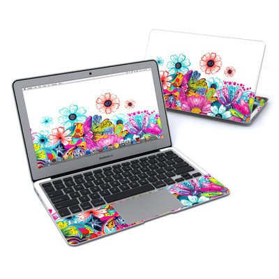 MacBook Air 11in Skin - Intense Flowers