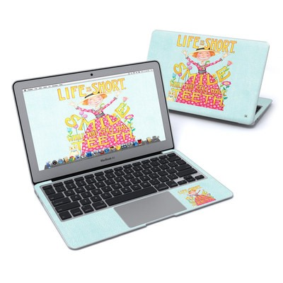 MacBook Air 11in Skin - Life is Short