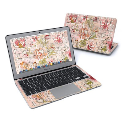 MacBook Air 11in Skin - Love Floral