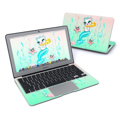 MacBook Air 11in Skin - Merkitten with Lei