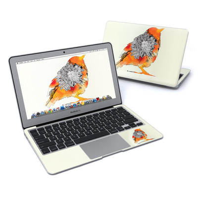 MacBook Air 11in Skin - Orange Bird