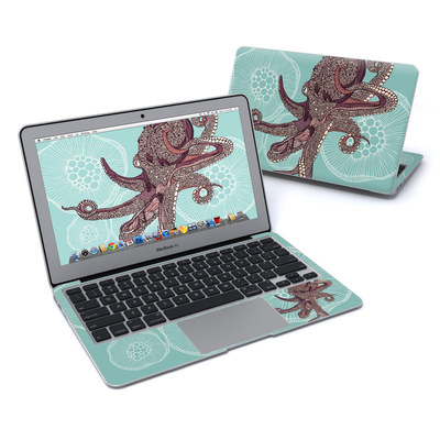 MacBook Air 11in Skin - Octopus Bloom